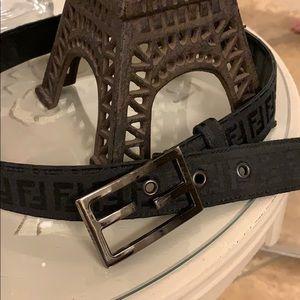 Fendi logo women's belt